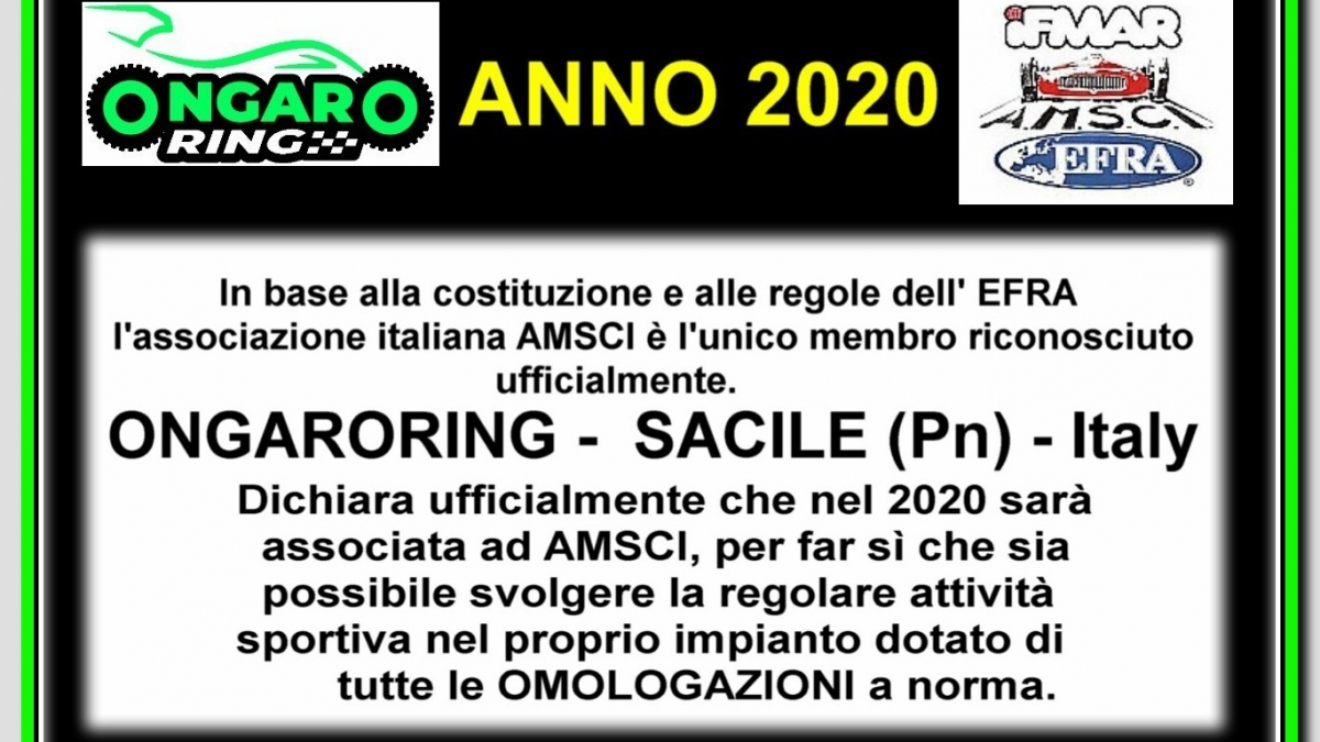 AFFILIAZIONE AMSCI EFRA IFMAR BASE